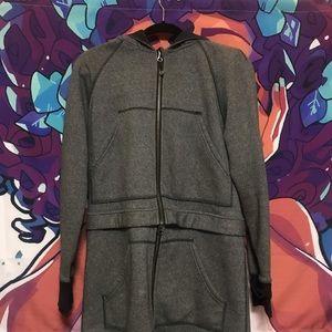 Lululemon grey double zip jacket